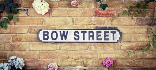 Bow Street Vintage Road Sign / Street Sign